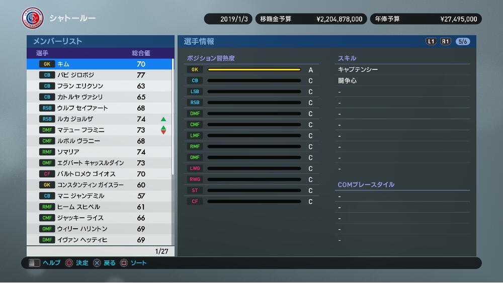 【ウイイレ2019】ベテランGK「キム」マスターリーグ序盤オススメ選手