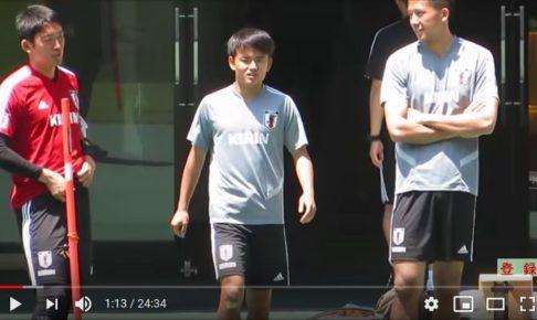 【サッカー日本代表】練習風景動画の見どころをピックアップ